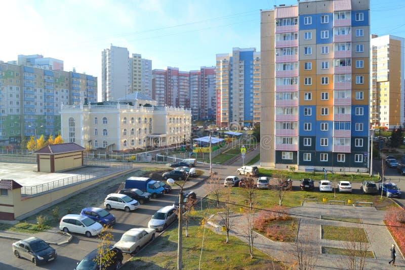 Widok nowożytny miasto fotografia stock