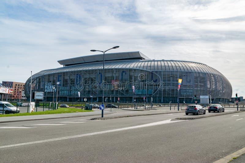 Widok nowożytny stadium Losc futbolu klub zdjęcie stock