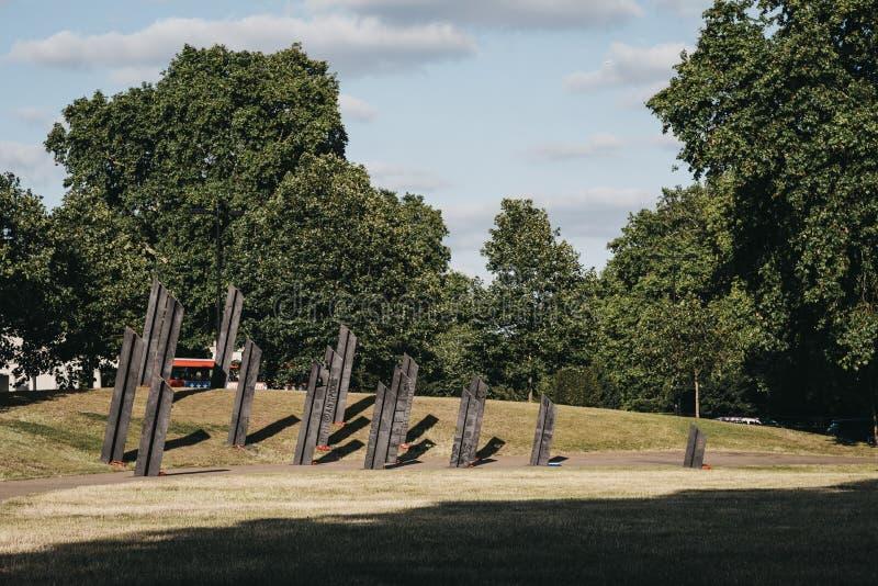 Widok Nowozelandzkiego Pomnika Wojennego w Londynie, Wielka Brytania obraz stock