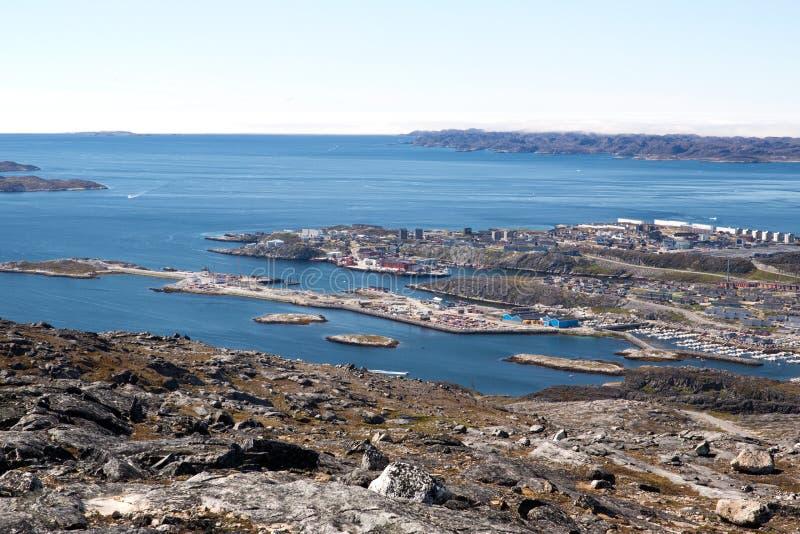 Widok nowy schronienie przy Nuuk zdjęcia stock