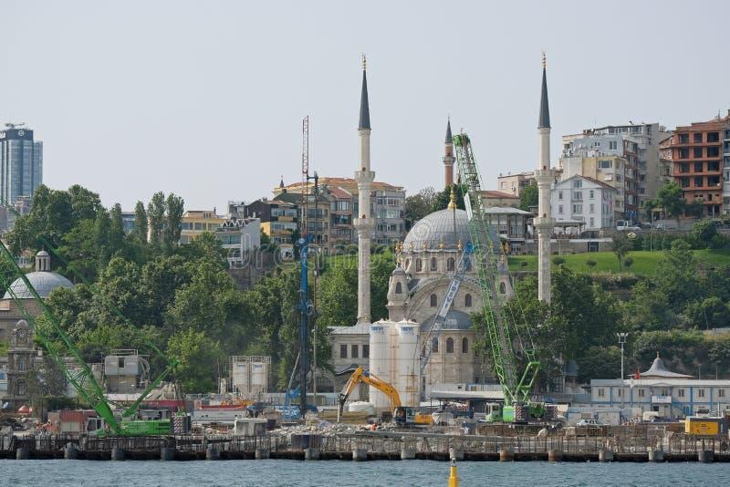 Widok Nusretiye meczet w Istanbuł obrazy stock