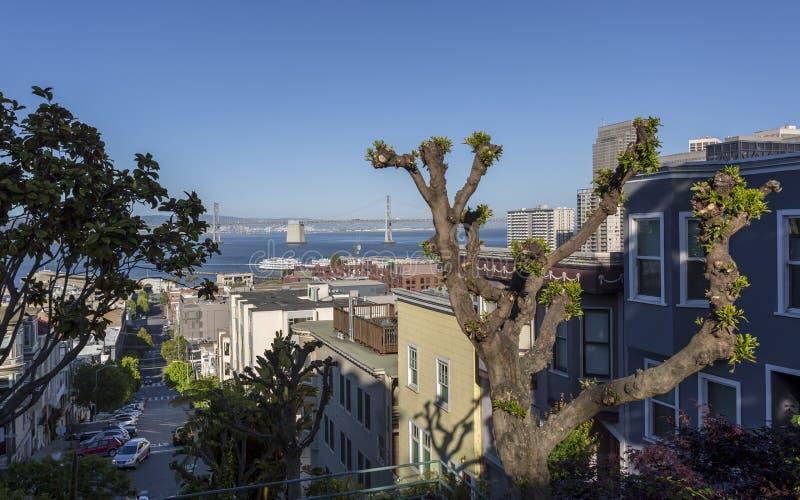 Widok Oakland zatoki most, San Francisco, Kalifornia, Stany Zjednoczone Ameryka, usa zdjęcia royalty free