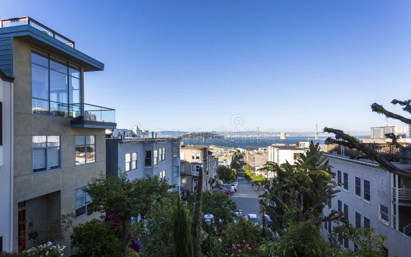 Widok Oakland zatoki most, San Francisco, Kalifornia, Stany Zjednoczone Ameryka, usa zdjęcie stock