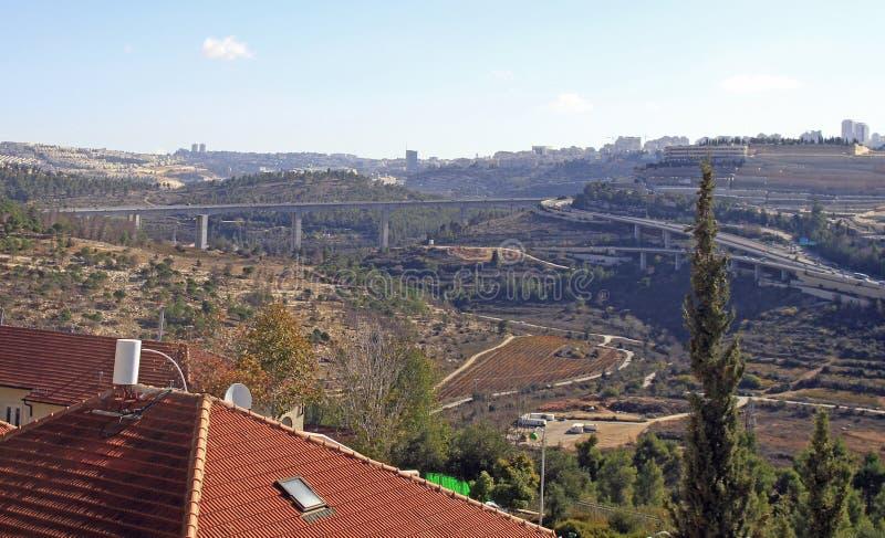 Widok obrzeża Jerozolimski miasto obraz stock