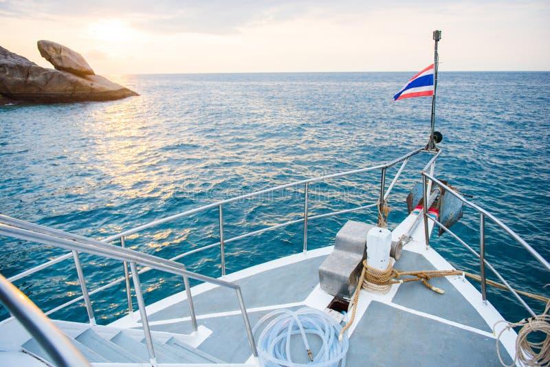 Widok od łodzi na andaman morzu zdjęcia royalty free