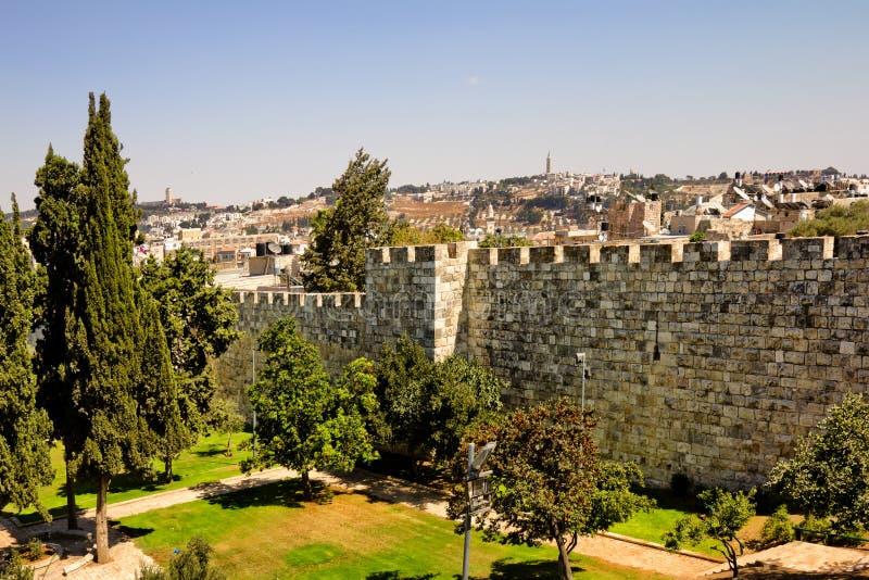 Widok od ścian antyczny Jerozolima obrazy stock