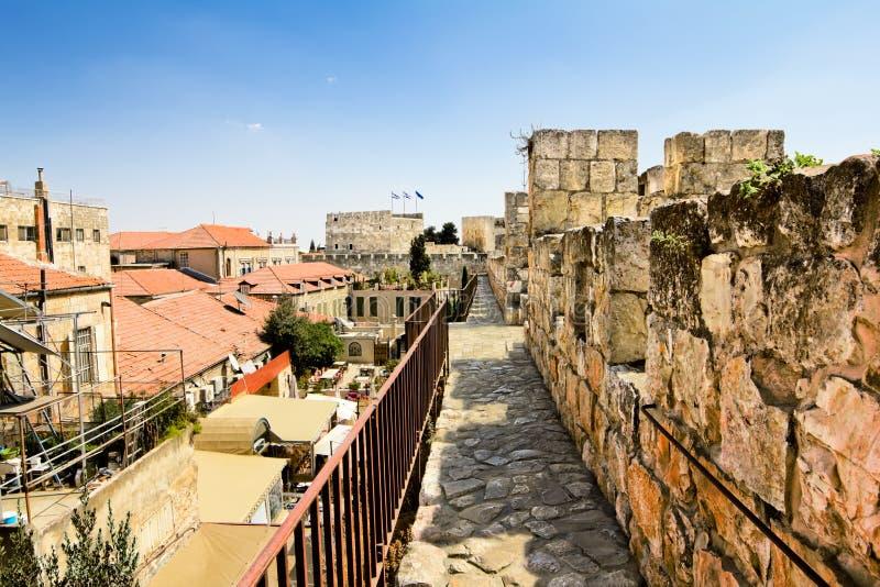 Widok od ścian antyczny Jerozolima fotografia royalty free