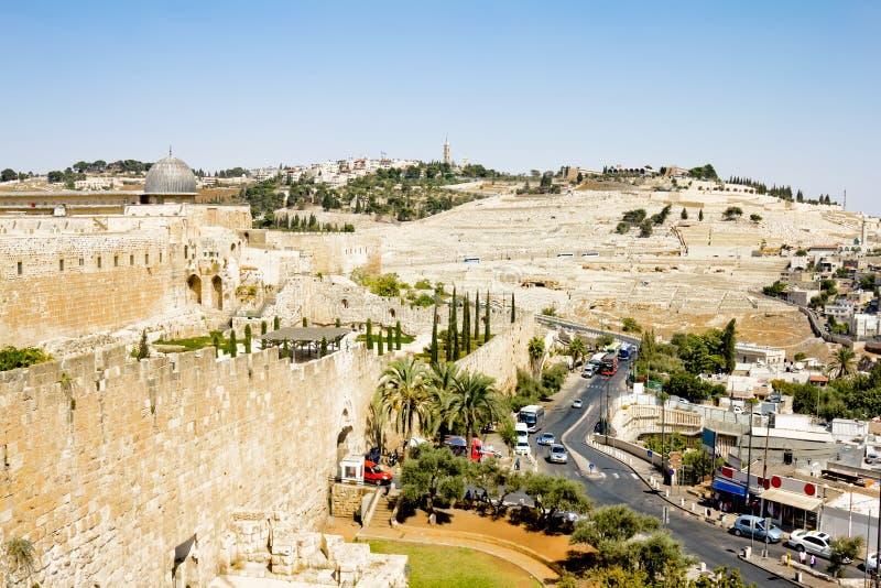 Widok od ścian Jerozolima obrazy stock