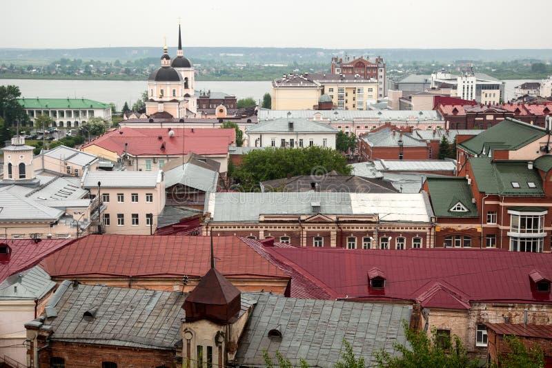 Widok od above antyczny miasto obraz stock