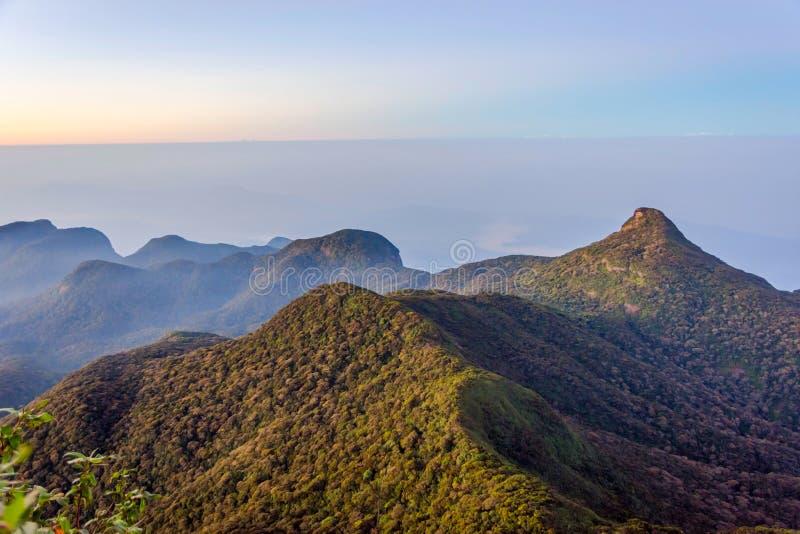 Widok od Adams szczytu, Sri Lanka obrazy stock