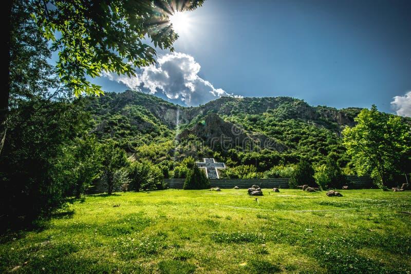 Widok od baby Vanga miejsca, Rupite, Bułgaria obraz stock