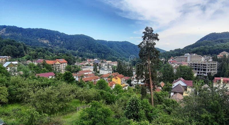 Widok od Baile Olanesti zdjęcie stock