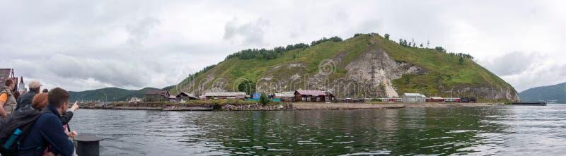 Widok od brzeg jeziorny Baikal obraz royalty free