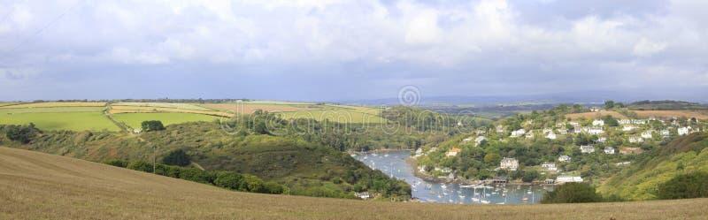 Widok od Burgh wyspy, Devon fotografia stock