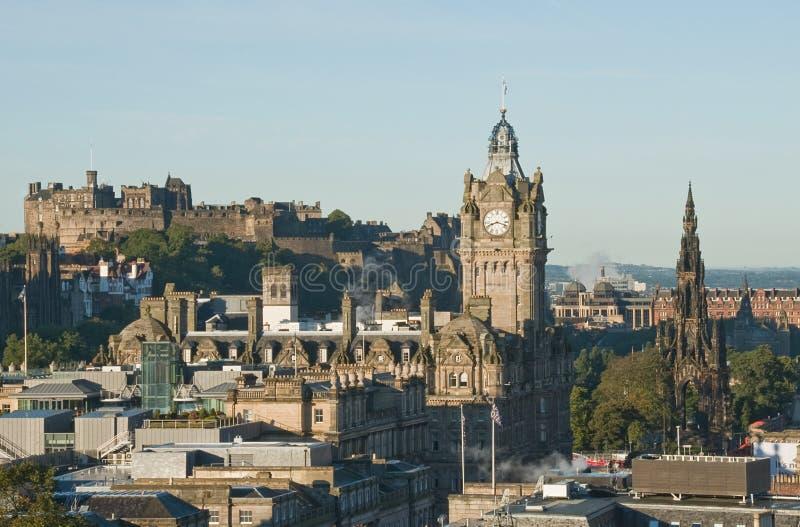 Widok od Calton Wzgórza, Edynburg fotografia royalty free