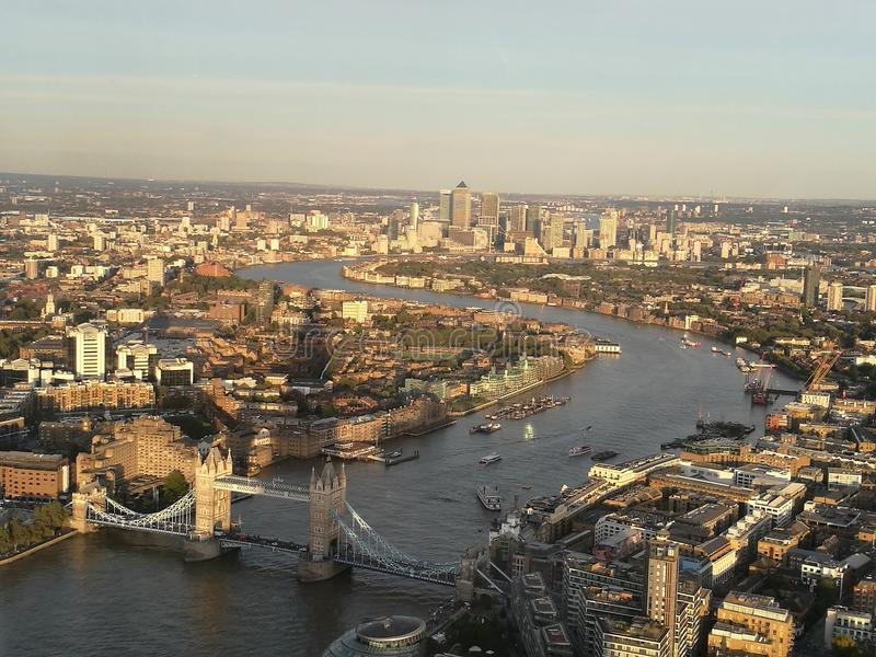 Widok od czerepu nad Thames obraz royalty free