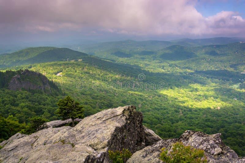 Widok od Dziadek góry blisko Linville, Pólnocna Karolina obrazy stock