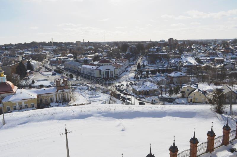 Widok od dzwonkowy wierza Volokolamsk Moskwa Kremlowski region fotografia stock