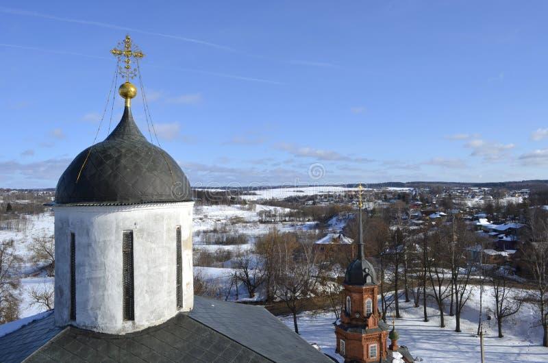 Widok od dzwonkowy wierza Volokolamsk Moskwa Kremlowski region zdjęcia stock