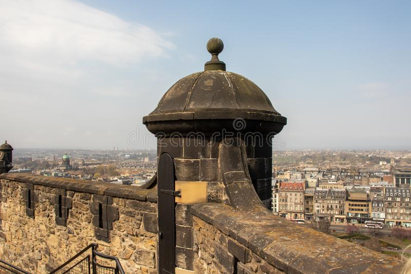 Widok od Edynburg kasztelu ramparts zdjęcie stock