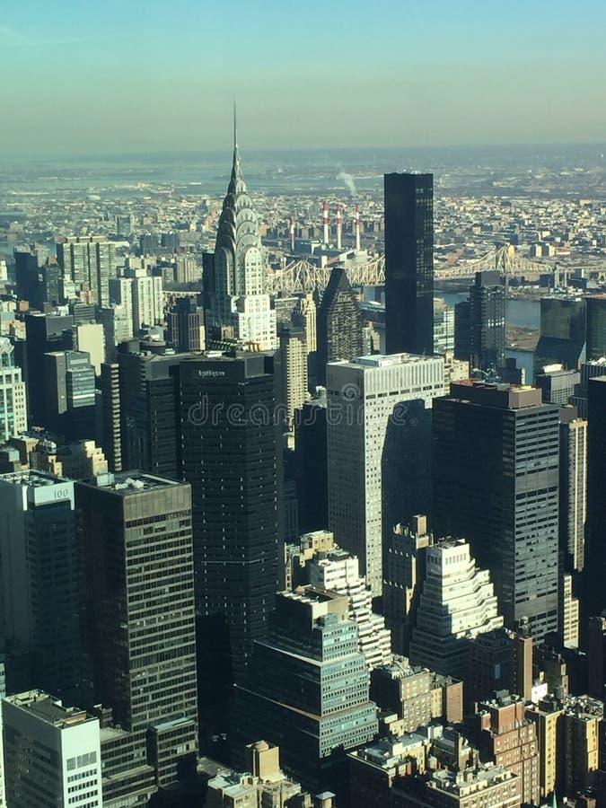 Widok od empire state building zdjęcia royalty free