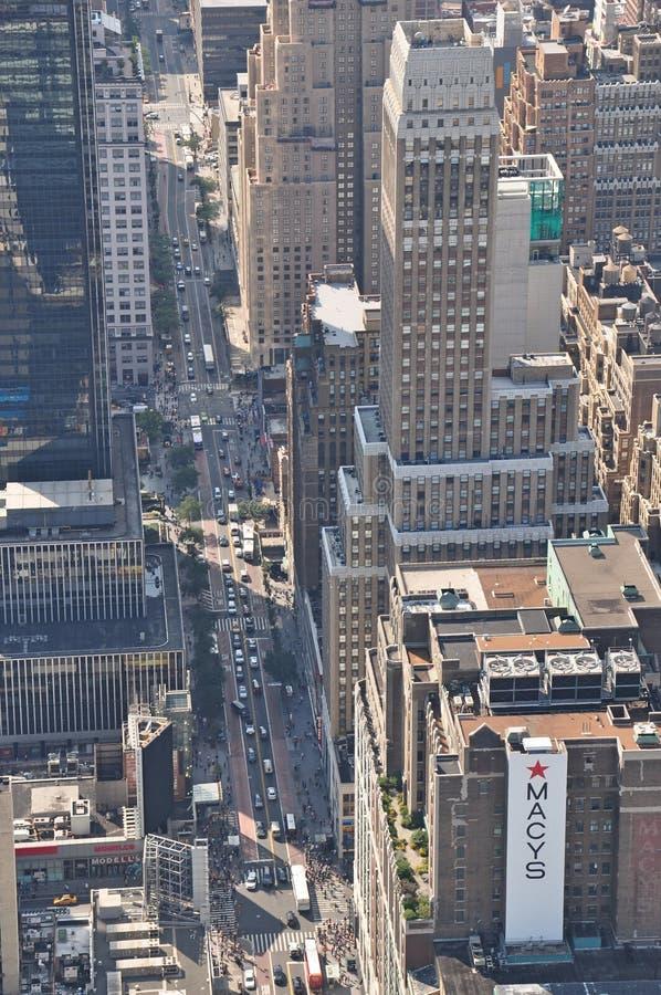Widok od empire state building w Nowy Jork zdjęcia royalty free
