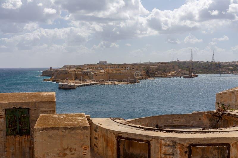 Widok od fortu St Elmo fotografia royalty free