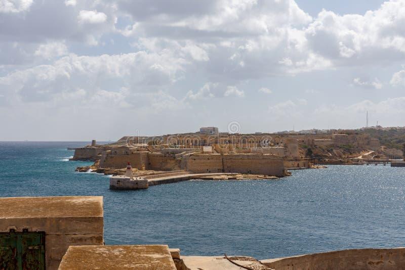 Widok od fortu St Elmo obraz stock