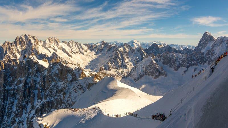 Widok od góry Blanc w Francja obraz stock