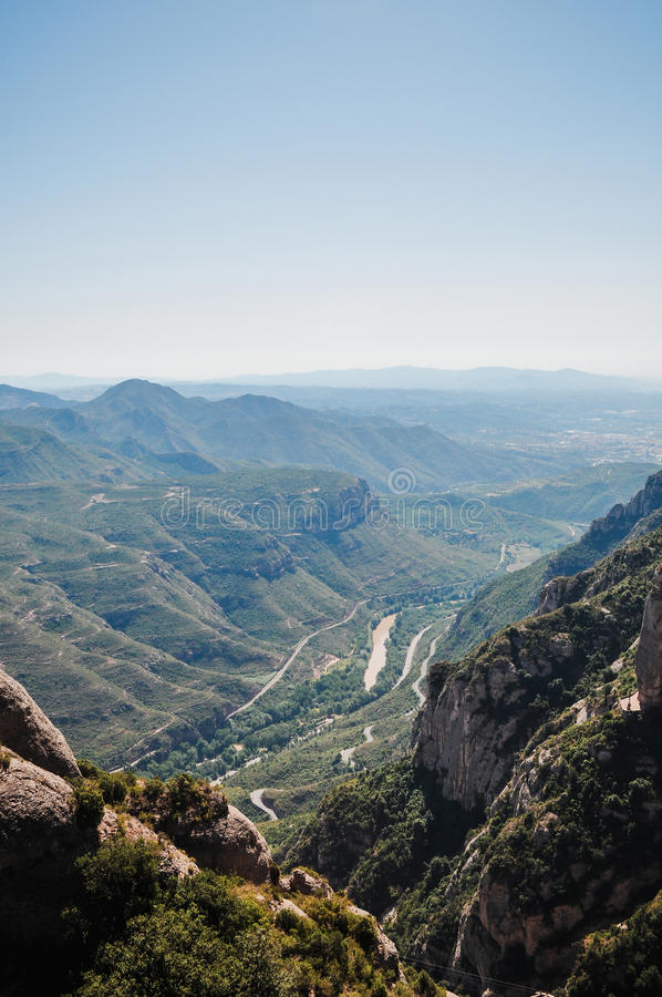 Widok od góry Montserrat obrazy royalty free