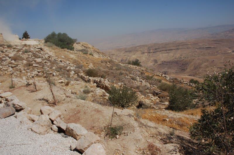 Widok od góry Nebo Jordania, obrazy royalty free