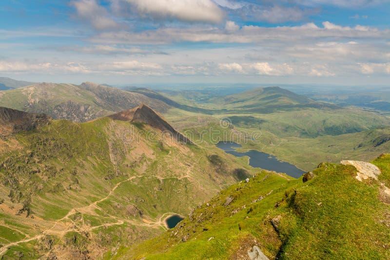 Widok od góry Snowdon, Walia, UK obraz royalty free