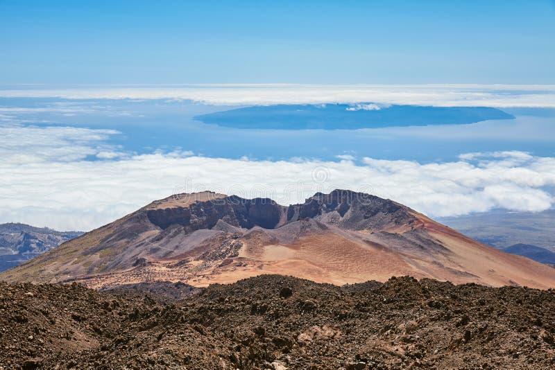 Widok od góry Teide na Pico Viejo, Tenerife, Hiszpania zdjęcia stock