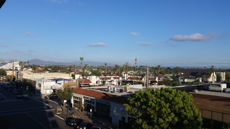 Widok od garażu w San Diego zdjęcia royalty free
