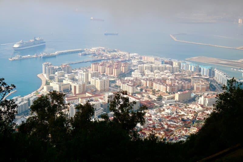 Widok Od Gibraltar wierzchołka fotografia stock