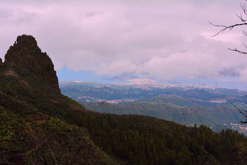 Widok od Granu Canaria gór fotografia stock