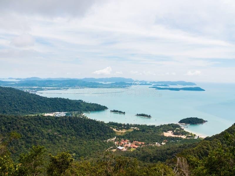 Widok od Gunung maty Cincang fotografia stock