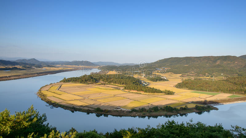 Widok od Gyeongcheondae fotografia royalty free