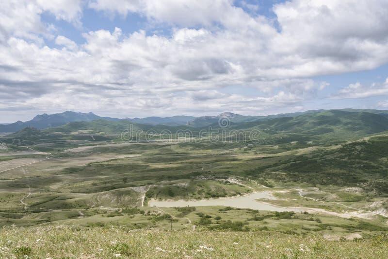 Widok od halnego Kokljuk, Koktebel, Crimea obraz royalty free