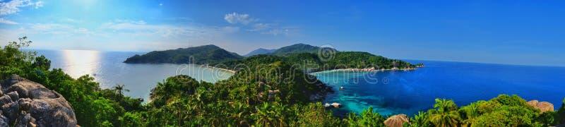 Widok od John Suwan punktu widzenia, Koh Tao Tajlandia zdjęcie stock