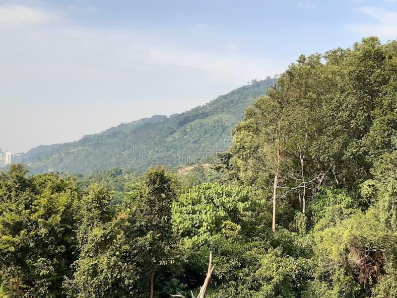 Widok od Kek Lok Si Crematorium fotografia stock