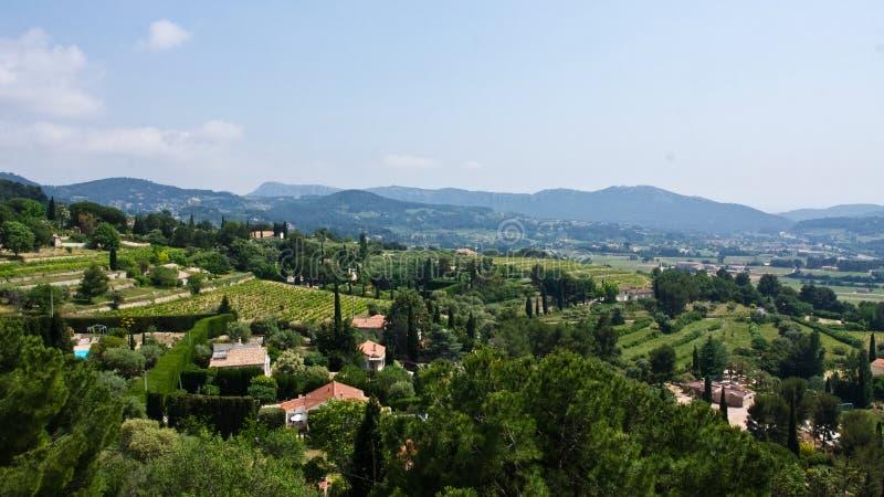 Widok od Le Castellet obrazy royalty free