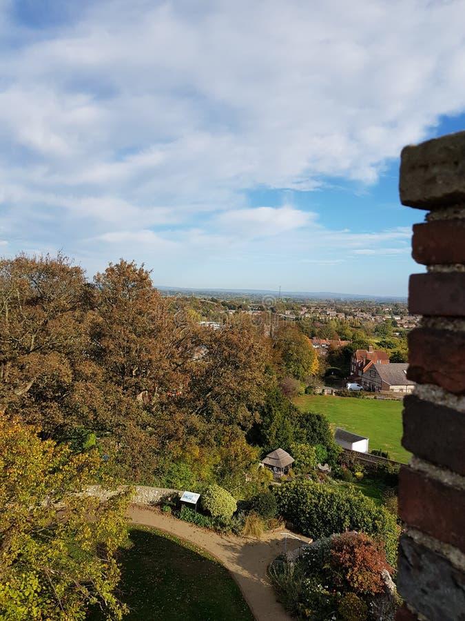 Widok od Lewes kasztelu ramparts zdjęcie royalty free