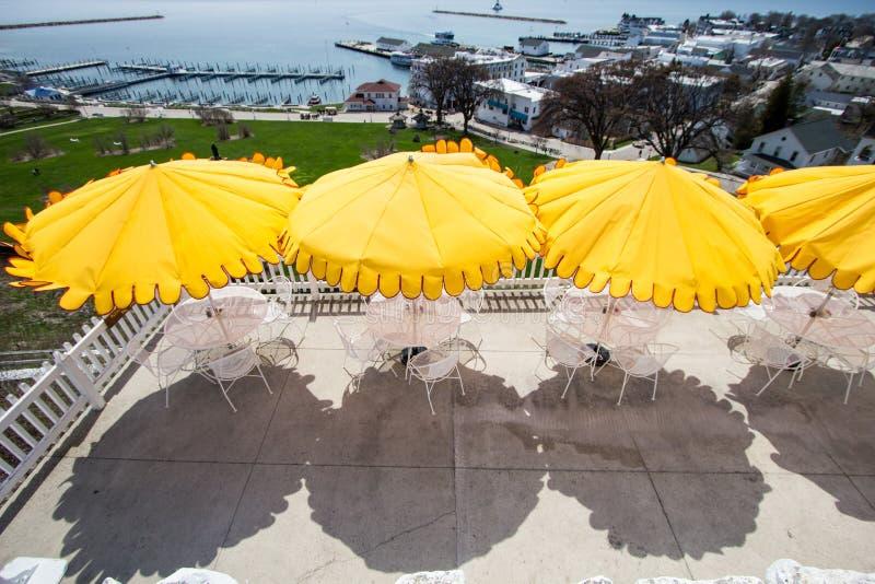 Widok Od Mackinaw wyspy herbaty pokoju obraz stock