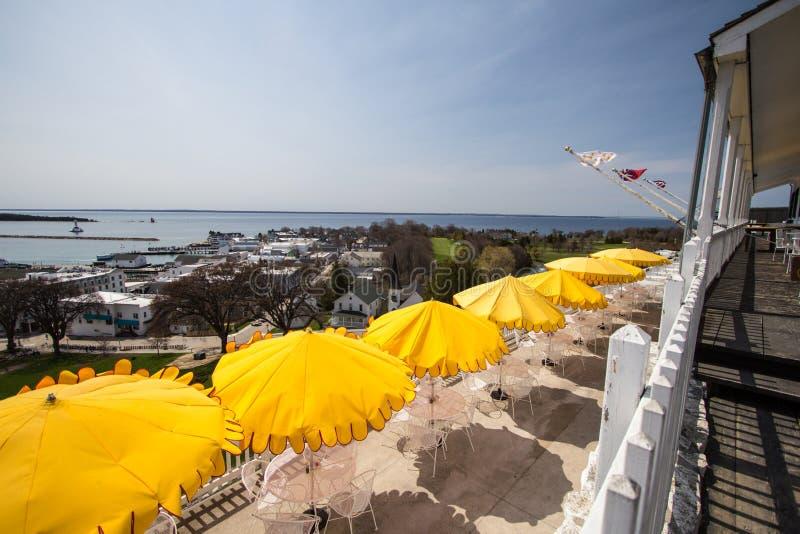 Widok Od Mackinaw wyspy herbaty pokoju zdjęcia royalty free