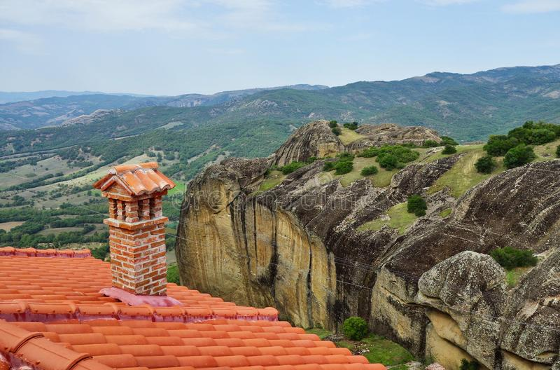 Widok Od Meteoru monasteru, Thessaly, Grecja zdjęcia royalty free