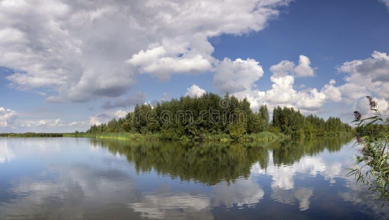 Widok od mola w Huizen zdjęcia royalty free