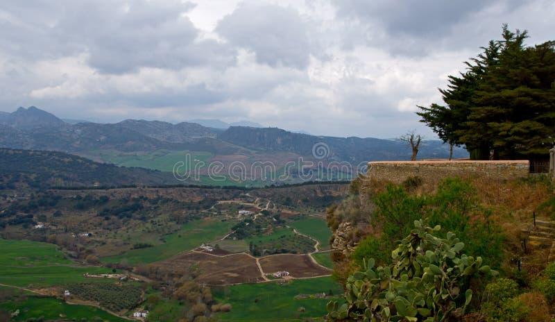 Widok od mosta w Ronda wiosce zdjęcie royalty free