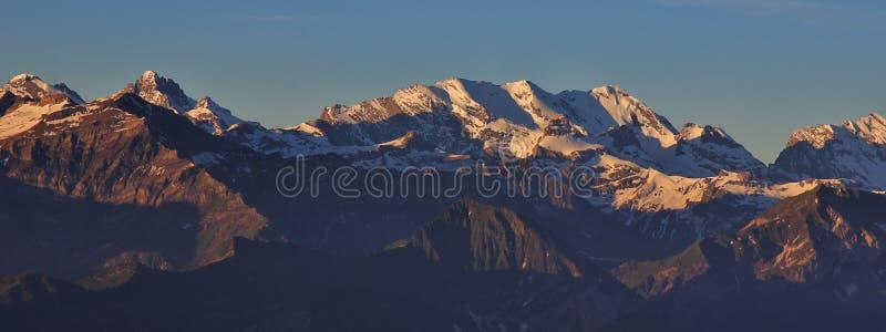 Widok od Mt Niederhorn, Szwajcaria obrazy royalty free