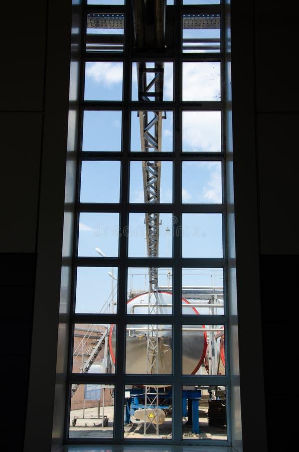 Widok od okno produkcja